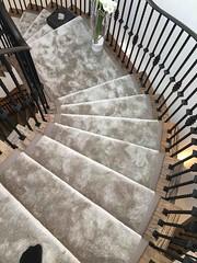 Flooring NE Sienna Porcuppine (Cavendish deVere) Tags: flooring nesiennaporcuppine domesticcarpet stairs fauxleathergreigeborder london n64nx