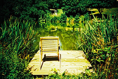 Lonely chair (Stephen Dowling) Tags: 35mm film somerset lomography lomolca russiancamera sovietcamera kodakelitechrome100 xpro crossprocessed