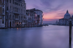 Venetian paths 142(La salute e canal grande) (Maurizio Fecchio) Tags: longexposure morning lights venice venezia italy italia city cityscape church architecture water travel tranquility clouds sky reflections tranquil boat canal nikon d7100