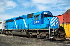 GLC SD40-2 #329 (conrail6809) Tags: emdsd45 emdsd402 sd40m2 sd45 atsf santafe glc329 greatlakescentral trains railroad cadillacmi cefx glc railfan railfanning rostershot