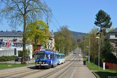 Voorjaar in Tsjechië (Mat'97) Tags: tram tramway tramvaj tramwaj tramcar trams transport tatra t3 liberec slovan masarykova 3
