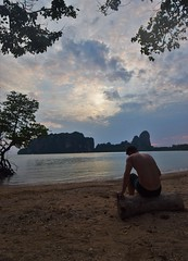 playa (mynameisother) Tags: playa beach railay asia thailand tailandia paradise ocean water persona alone foreveralone arena spain madrid boy model back