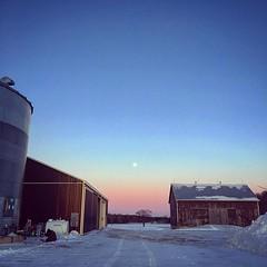 (jessalynn_sammons) Tags: iphone squareformat evening twilight sunset moon sky shed farmscene farm barn instagram ifttt