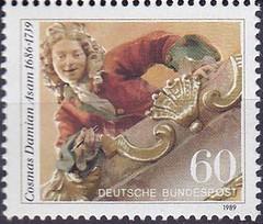 Deutsche Briefmarken (micky the pixel) Tags: briefmarke stamp ephemera deutschland bundespost kunst art fresko klosterweltenburg cosmasdamianasam egidquirinasam brüderasam maler architekt stuckateur bildhauer