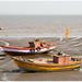 Elephanta Island voor de kust van Bombay - Mumbai in India ...