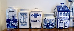 canister collection (muffett68 ☺ heidi ☺) Tags: canister collection blueandwhite ceramic sugar zuger suiker sucre cmwdblue