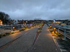 Folkestone Harbour Green Walkway (BeerAndLoathing) Tags: pixelxl december googlepixel england winter uktrip winter2018 trip 2018 android cellphone pixel google kent unitedkingdom gb
