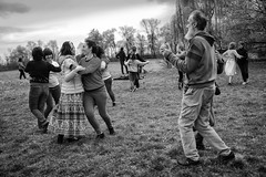 Let's dance (Roberto Spagnoli) Tags: dance dancers folkdance ballo ballerini people meadow field music biancoenero blackandwhite bw joy countryside