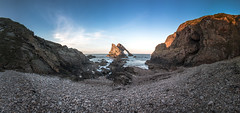 Bow Fiddle Panorama (Chris B70D) Tags: scotland travel go outdoors north east coast scenery uk highlands cairngorms long weekend away roadtrip explore bow fiddle rock n coastal rockform shape window landscape photography scene composition canon 70d 18135 tokina 1116 sky light shadow fresh air daytime sunset cold spring season
