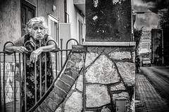 the old lady (FedeSK8) Tags: campania campaniafelix fedesk8 federicoscottophotography fujifilmxm1 italia italy fedescotto streetphotography people monochrome blackandwhite lady