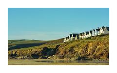 NEW POLZEATH (Barry Haines) Tags: new polzeath cornwall houses sky cliffs beach sand rocks sony a7r2 a7rii voigtlander 110mm apo lanthar macro