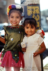 Smiling Girls in Costume, Carnival de Tepoztlan (Vern Krutein) Tags: girlsmiles face carnivaldetepoztlan mexico female feminine lady ethnic clothing style dress native traditional indeginous indigenous wear outfit teopostlan wearing children child young youngster youth childhood little kid preteen people human person humanbeing portrait ninos mexican centralamerica latinamerica plpv12p0114 tepoztlan morelos