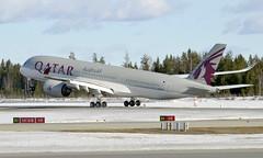 Qatar A7-ALA, OSL ENGM Gardermoen (Inger Bjørndal Foss) Tags: a7ala qatar airbus a350 osl engm gardermoen
