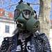Protestant under mask