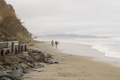 Good Day for Surfing in Del Mar, California (aaronrhawkins) Tags: surfer surf delmar california overcast cloudy rain rainy beach sand ocean pacific cold wet waves weather spring gray aaronhawkins