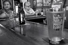 The Green Door - Napa, CA (Rex Mandel) Tags: napa napacounty divebar dive blackandwhite bw bar barscene noir scene california street streetphotography