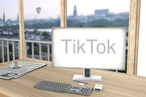 TikTok-auf-Bildschirm