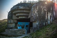 Cannon still there. Zeiss f1.8 32mm (Carl Terlak) Tags: cannon bunker green apsc sony denmark harbour jutland kattegat