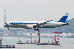 "EL AL Israel Airlines B787-9 DREAMLINER 4X-EDF ""70th Anniversary Retro"" 002 (A.S. Kevin N.V.M.M. Chung) Tags: hkg aviation aircraft aeroplane airport airlines plane spotting boeing b787 b7879 dreamliner landing retro elal"
