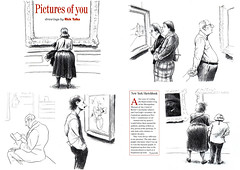 Pictures of you (Rick Tulka) Tags: themetropolitanmuseumofart newyork caricature pencil drawing sketchbook