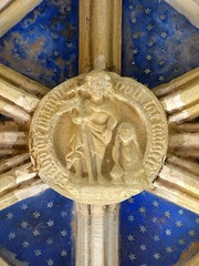Christ & Mary Magdalene? (Aidan McRae Thomson) Tags: tynemouth priory chapel vault vaulting roofboss bosses medieval carving tynewear