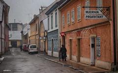 Snowing (malioli) Tags: snowing snow street urban downtown house karloavc croatia hrvatska europe canon
