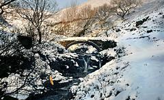 Three Shires Head (PentlandPirate of the North) Tags: threeshireshead waterfall river snow banana cheshire staffordshire derbyshire winter packhorsebridge england