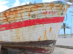 The sea has no Merce (Couldn't Call It Unexpected) Tags: boat ship abandoned rust hull wood