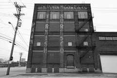 Benjamin Moore & Co (gregador) Tags: cleveland decayed benjaminmooreco ghostsign blackandwhite