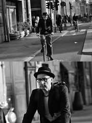[La Mia Città][Pedala] (Urca) Tags: milano italia 2018 bicicletta pedalare ciclista ritrattostradale portrait dittico bike bicycle nikondigitale scéta biancoenero blackandwhite bn bw 11838