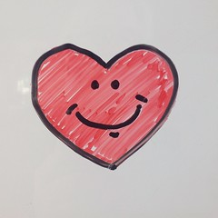 A happy valentine (D Laferriere) Tags: heart valentine'sday markers red happy february valentine fun whiteboard