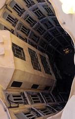 Someone's Home Downstairs (Douguerreotype) Tags: city barcelona buildings urban spain catalunya gaudi