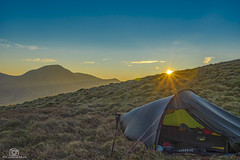 Golden Glow. (CamraMan.) Tags: carlingknott hillebergakto sunrays sunrise wildcamping wildcamp cumbria sonya7 canon1740mmlusm fotodiox benro