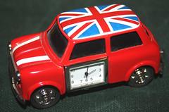 "Mini Clock. ""Time Pieces"". Macro-Mondays. (Yesteryear-Automotive) Tags: timepieces macromondays classic mini cooper battery clock"