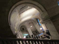 New York Public Library Entrance Hall Lobby 3638 (Brechtbug) Tags: new york public library entrance hall lobby 5th ave facade city interior stairs staircase stone marble 2019 nyc 03122019 art architecture designed by artist sculptor paul wayland bartlett carved the piccirilli brothers was two lions main branch stephen a schwarzman building consolidation astor lenox libraries beaux arts design style