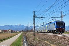 TI E.464.600. Grisignano di Zocco (Ivan Furlanis) Tags: treno train zug ferrovia bahn eisenbahn rail railway railroad italia italy italien veneto