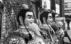 Sunnyside/Woodside St. Pat's For All Parade (neilsonabeel) Tags: nikonn90s nikon nikkor film analogue blackandwhite parade queens newyorkcity