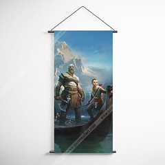 God Of War 30 Kratos And Atreus Decorative Banner Flag for Gamers (gamewallart) Tags: background banner billboard blank business concept concrete design empty gallery marketing mock mockup poster template up wall vertical canvas white blue hanging clear display media sign commercial publicity board advertising space message wood texture textured material wallpaper abstract grunge pattern nobody panel structure surface textur print row ad interior