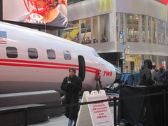 2019 Celebration of Retro TWA Hotel - Wingless Plane Times Square 4496 (Brechtbug) Tags: 2019 celebration retro twa hotel brooklyn wingless 1958 lockheed constellation connie l1649a starliner airplane visits times square before heading trans world airlines new yorks john f kennedy international airport known york anderson field commonly idlewild city march 23rd nyc 02232019