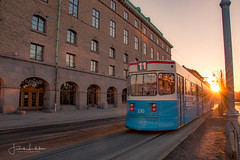 Number 11 (Fredrik Lindedal) Tags: tram train sunrise morning city cityscape cityview glow lindedal gothenburg göteborg windows sky sweden sverige