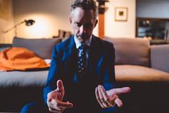 capacity. (jonathancastellino) Tags: portrait series hands drjordanpeterson psychologist ring hand leica q tie collar figure think motion capacity