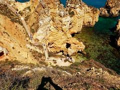 P1020319_DxO (orciel95) Tags: lagos algarve portugal océan mer sea eau water falaise rocher stone colors green blue vert bleue