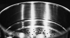 scratched steel (Redheadwondering) Tags: 118picturesin2018 sonyα7ii sonyf1450mmlens 66stainlesssteel 66 blackwhite macro