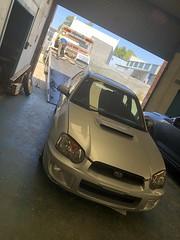 Off she goes for an engine transplant (andrew edgar .......) Tags: subaru impreza wrx silver turbo awd car sydney blacktown