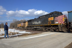 Making the cut at Stahl Rd (Rich Peters- foosqust) Tags: up sp union pacific southernpacific stahl rd coal loads