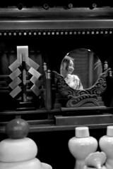 Japan - Kyoto (luca marella) Tags: japan kyoto portrait woman bw bn blackwhite biancoenero street streetstyle mirror reflection lucamarella