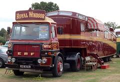 JHE 829L (Nivek.Old.Gold) Tags: 1973 erf tractor unit gardner180 johncartersons maidenhead showmans living van royalwindsor 10