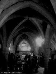 La Grange Aux Dîmes (LUMEN SCRIPT) Tags: monochrome provins france history architecture arches people dark light lowkey