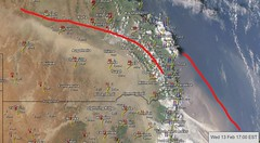 Dust storm [Queensland Australia][weatherzone pro] (Dreaming of the Sea) Tags: dust queensland australia 2019 february 13th weather
