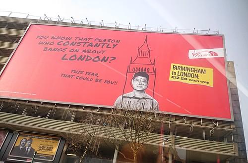 Virgin Trains Birmingham to London - Moat Lane Car Park